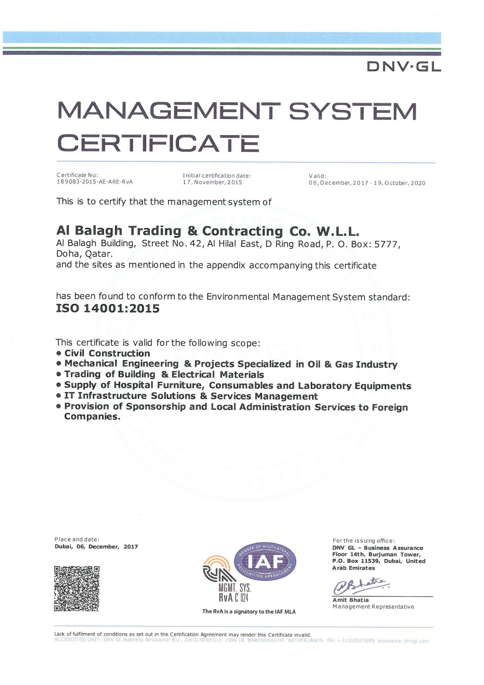 quality management system  health  u0026 safety